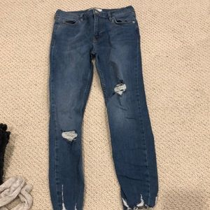 Free People Shark Bite Jeans